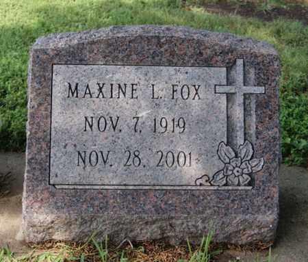 FOX, MAXINE L - Hanson County, South Dakota | MAXINE L FOX - South Dakota Gravestone Photos