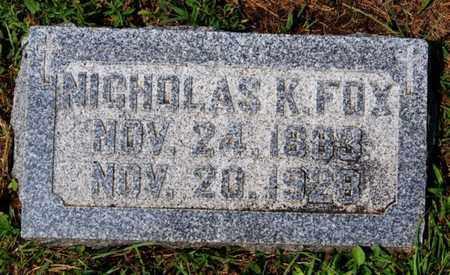 FOX, NICHOLAS K - Hanson County, South Dakota | NICHOLAS K FOX - South Dakota Gravestone Photos