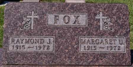 FOX, MARGARET U - Hanson County, South Dakota | MARGARET U FOX - South Dakota Gravestone Photos