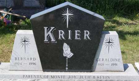 KRIER, BERNARD - Hanson County, South Dakota   BERNARD KRIER - South Dakota Gravestone Photos
