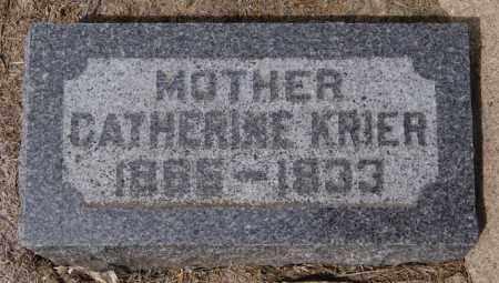 KRIER, CATHERINE - Hanson County, South Dakota | CATHERINE KRIER - South Dakota Gravestone Photos
