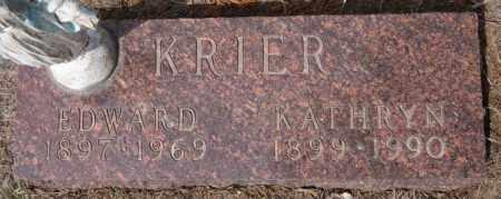 KRIER, KATHRYN - Hanson County, South Dakota   KATHRYN KRIER - South Dakota Gravestone Photos