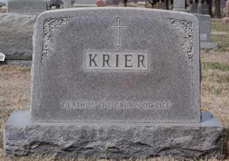 KRIER, FAMILY MARKER - Hanson County, South Dakota | FAMILY MARKER KRIER - South Dakota Gravestone Photos