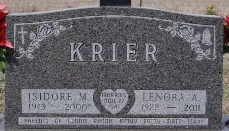 KRIER, ISIDORE M - Hanson County, South Dakota | ISIDORE M KRIER - South Dakota Gravestone Photos