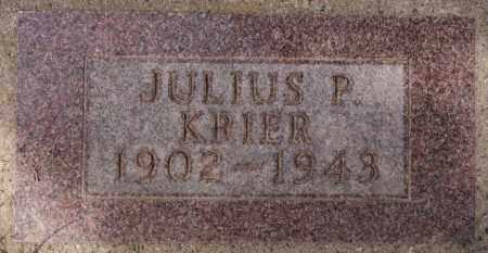 KRIER, JULIUS P - Hanson County, South Dakota   JULIUS P KRIER - South Dakota Gravestone Photos