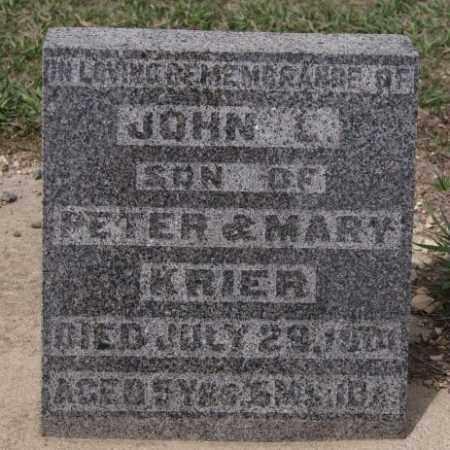 KRIER, JOHN L - Hanson County, South Dakota | JOHN L KRIER - South Dakota Gravestone Photos