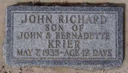 KRIER, JOHN RICHARD - Hanson County, South Dakota   JOHN RICHARD KRIER - South Dakota Gravestone Photos