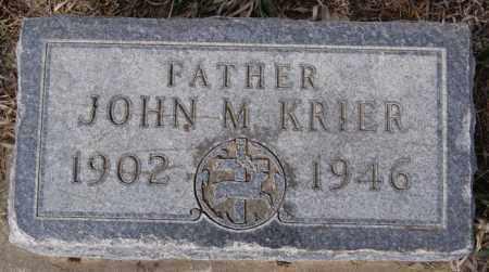 KRIER, JOHN M - Hanson County, South Dakota   JOHN M KRIER - South Dakota Gravestone Photos