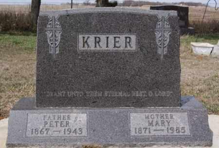 KRIER, MARY - Hanson County, South Dakota | MARY KRIER - South Dakota Gravestone Photos