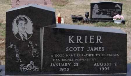 KRIER, SCOTT JAMES - Hanson County, South Dakota   SCOTT JAMES KRIER - South Dakota Gravestone Photos