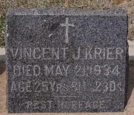 KRIER, VINCENT J - Hanson County, South Dakota | VINCENT J KRIER - South Dakota Gravestone Photos