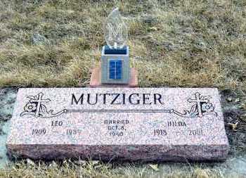 MUTZIGER, HILDA - Hanson County, South Dakota | HILDA MUTZIGER - South Dakota Gravestone Photos