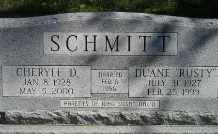 "SCHMITT, DUANE ""RUSTY"" - Hanson County, South Dakota | DUANE ""RUSTY"" SCHMITT - South Dakota Gravestone Photos"