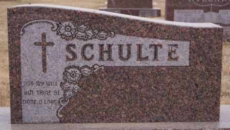 SCHULTE, FAMILY MARKER - Hanson County, South Dakota | FAMILY MARKER SCHULTE - South Dakota Gravestone Photos