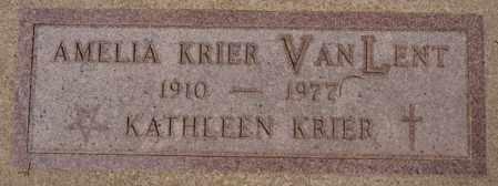 VAN LENT, AMELIA - Hanson County, South Dakota | AMELIA VAN LENT - South Dakota Gravestone Photos