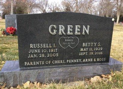 GREEN, RUSSEL I. - Hughes County, South Dakota   RUSSEL I. GREEN - South Dakota Gravestone Photos