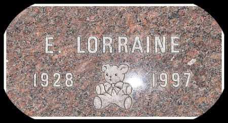 LORRAINE, E. - Hughes County, South Dakota   E. LORRAINE - South Dakota Gravestone Photos