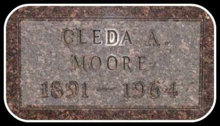 MOORE, GLEDA A. - Hughes County, South Dakota | GLEDA A. MOORE - South Dakota Gravestone Photos