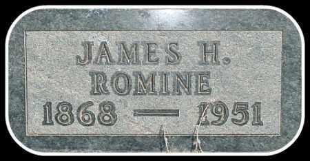 ROMINE, JAMES H. - Hughes County, South Dakota | JAMES H. ROMINE - South Dakota Gravestone Photos