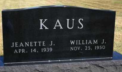 KAUS, WILLIAM J - Hutchinson County, South Dakota | WILLIAM J KAUS - South Dakota Gravestone Photos