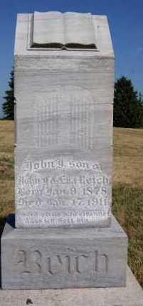 REICH, JOHN - Hutchinson County, South Dakota | JOHN REICH - South Dakota Gravestone Photos