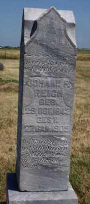 REICH, JOHANN F - Hutchinson County, South Dakota | JOHANN F REICH - South Dakota Gravestone Photos