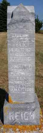 REICH, JACOB - Hutchinson County, South Dakota | JACOB REICH - South Dakota Gravestone Photos