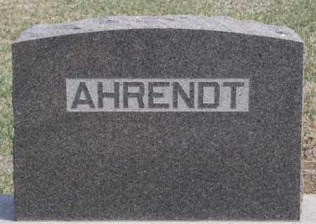 AHRENDT, FAMILY MARKER - Hutchinson County, South Dakota | FAMILY MARKER AHRENDT - South Dakota Gravestone Photos