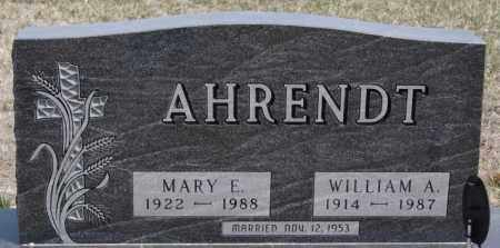 AHRENDT, MARY E - Hutchinson County, South Dakota | MARY E AHRENDT - South Dakota Gravestone Photos