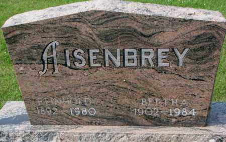 AISENBREY, BERTHA - Hutchinson County, South Dakota | BERTHA AISENBREY - South Dakota Gravestone Photos