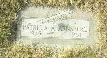 ARNSBERG, PATRICIA - Hutchinson County, South Dakota   PATRICIA ARNSBERG - South Dakota Gravestone Photos
