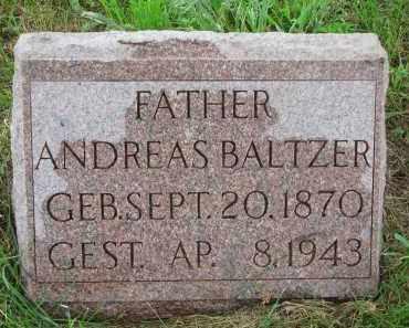 BALTZER, ANDREAS - Hutchinson County, South Dakota   ANDREAS BALTZER - South Dakota Gravestone Photos
