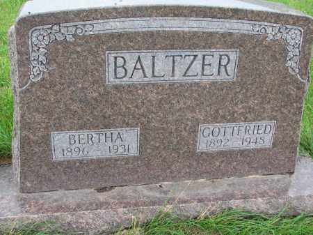 BALTZER, BERTHA - Hutchinson County, South Dakota | BERTHA BALTZER - South Dakota Gravestone Photos