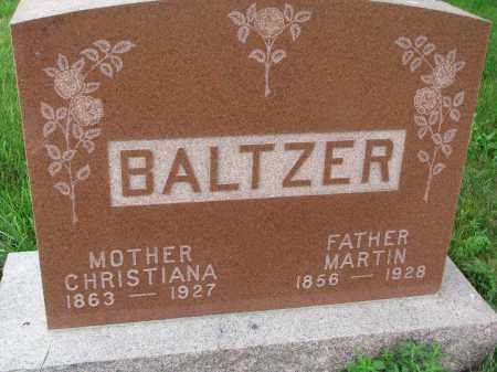 BALTZER, CHRISTIANA - Hutchinson County, South Dakota | CHRISTIANA BALTZER - South Dakota Gravestone Photos