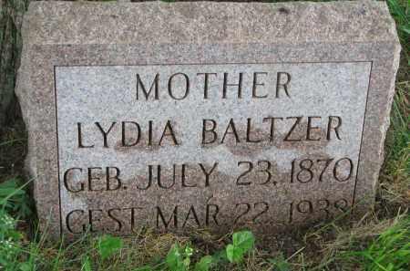 BALTZER, LYDIA - Hutchinson County, South Dakota   LYDIA BALTZER - South Dakota Gravestone Photos