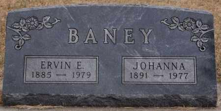 BANEY, JOHANNA - Hutchinson County, South Dakota | JOHANNA BANEY - South Dakota Gravestone Photos
