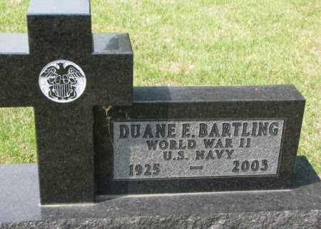 BARTLING, DUANE E. - Hutchinson County, South Dakota | DUANE E. BARTLING - South Dakota Gravestone Photos