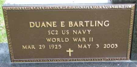 BARTLING, DUANE E. (WW II) - Hutchinson County, South Dakota | DUANE E. (WW II) BARTLING - South Dakota Gravestone Photos