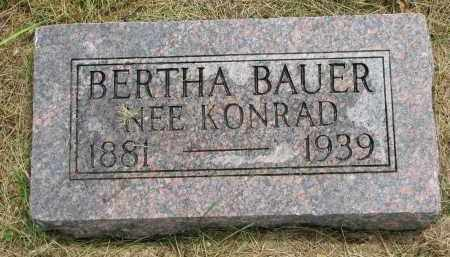 BAUER, BERTHA - Hutchinson County, South Dakota | BERTHA BAUER - South Dakota Gravestone Photos