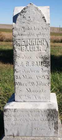 BAUER, HEINRICH - Hutchinson County, South Dakota | HEINRICH BAUER - South Dakota Gravestone Photos