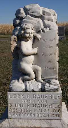 BAUERLE, LEON G - Hutchinson County, South Dakota | LEON G BAUERLE - South Dakota Gravestone Photos