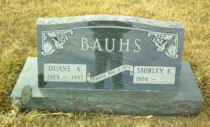 BAUHS, DUANE - Hutchinson County, South Dakota | DUANE BAUHS - South Dakota Gravestone Photos
