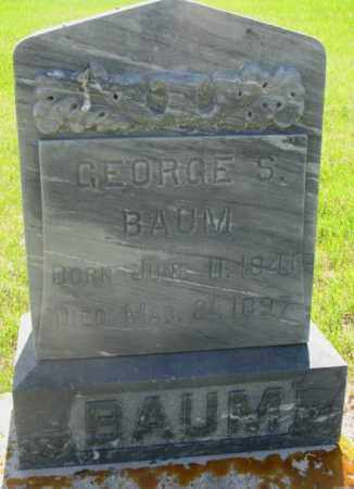BAUM, GEORGE S. - Hutchinson County, South Dakota | GEORGE S. BAUM - South Dakota Gravestone Photos