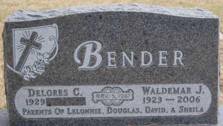 BENDER, WALDEMAR J - Hutchinson County, South Dakota | WALDEMAR J BENDER - South Dakota Gravestone Photos