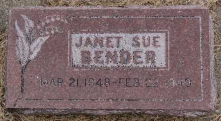 BENDER, JANET SUE - Hutchinson County, South Dakota | JANET SUE BENDER - South Dakota Gravestone Photos
