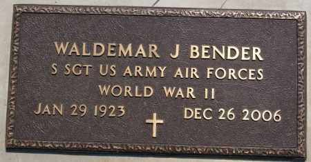 BENDER, WALDEMAR J (WWII) - Hutchinson County, South Dakota | WALDEMAR J (WWII) BENDER - South Dakota Gravestone Photos