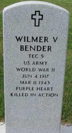 BENDER, WILMER V. - Hutchinson County, South Dakota   WILMER V. BENDER - South Dakota Gravestone Photos