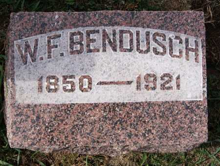 BENDUSCH, W F - Hutchinson County, South Dakota   W F BENDUSCH - South Dakota Gravestone Photos