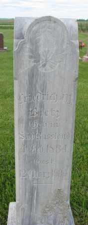 BIETZ, FRIEDRICH W - Hutchinson County, South Dakota | FRIEDRICH W BIETZ - South Dakota Gravestone Photos