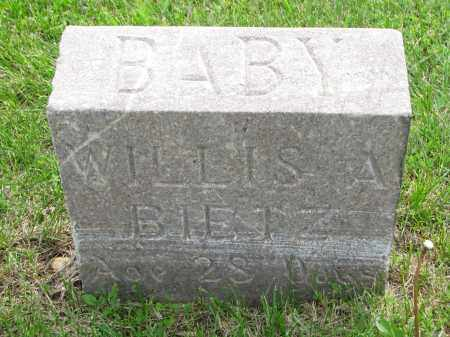 BIETH, WILLIS A - Hutchinson County, South Dakota   WILLIS A BIETH - South Dakota Gravestone Photos